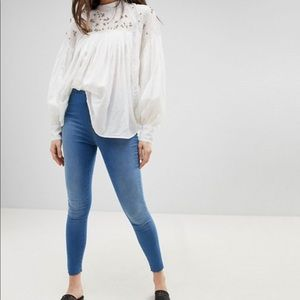 🦙 Free People Easy Goes It Skinny Jeans